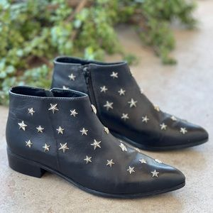 Claudie Pierlot Star Studded Leather Ankle Boots